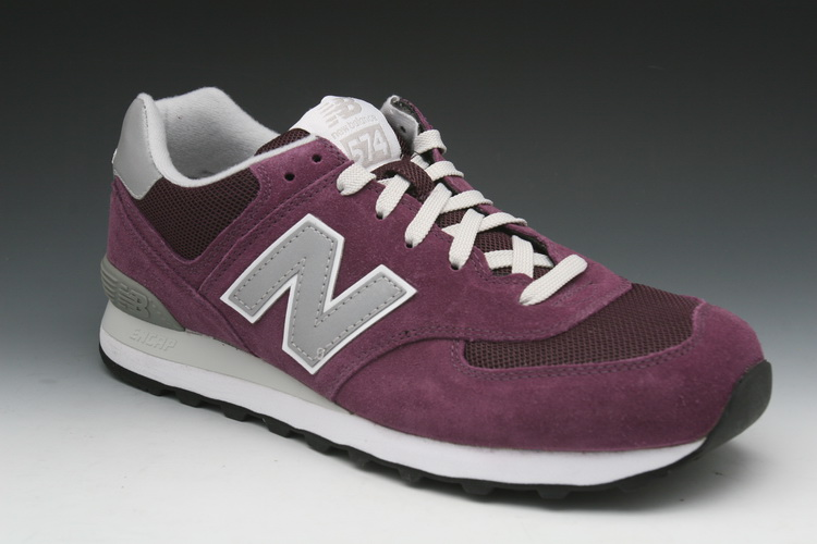 New Balance '574' Retro Running Men's Sneakers in Purple/Silver ...